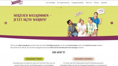 Screenshot Engagementplattform Engagiert in Halle
